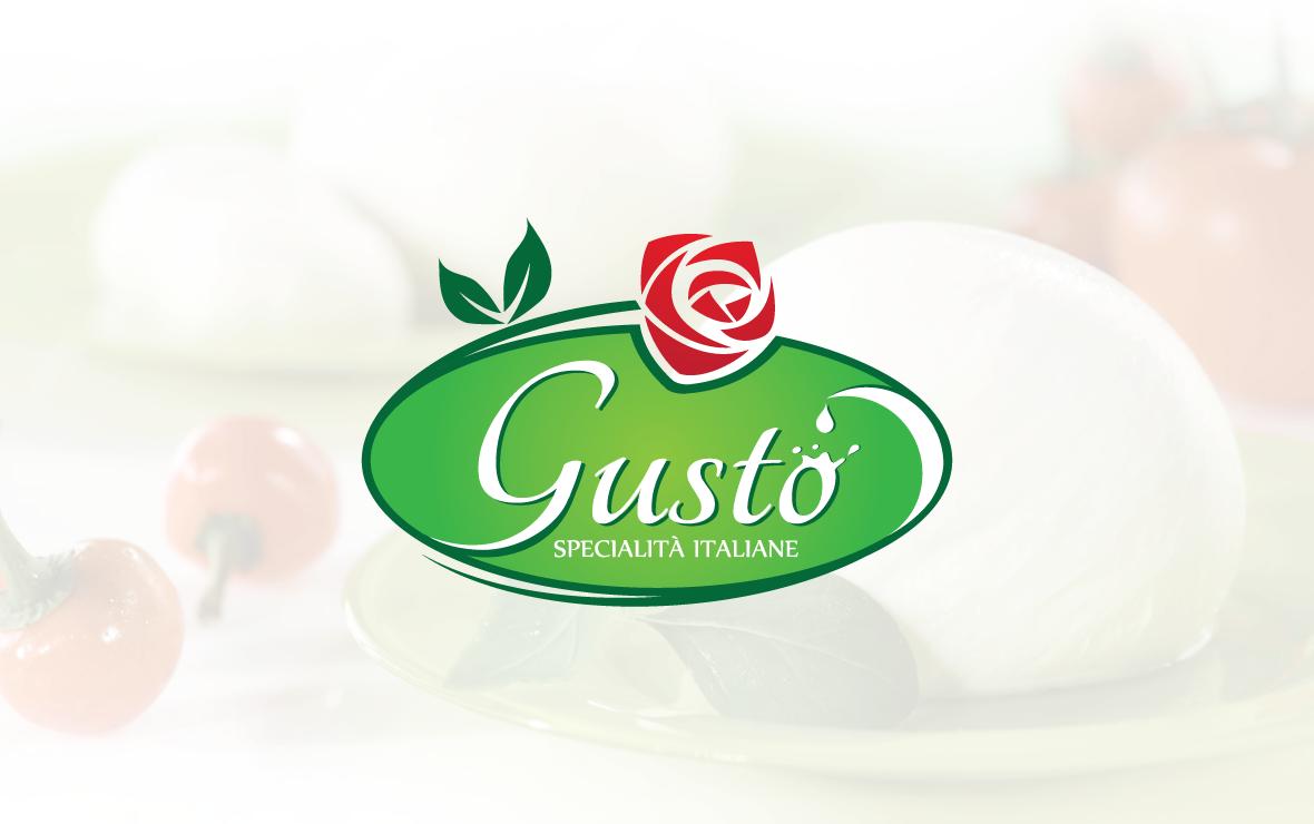 gusto - creazione logo per caseificio